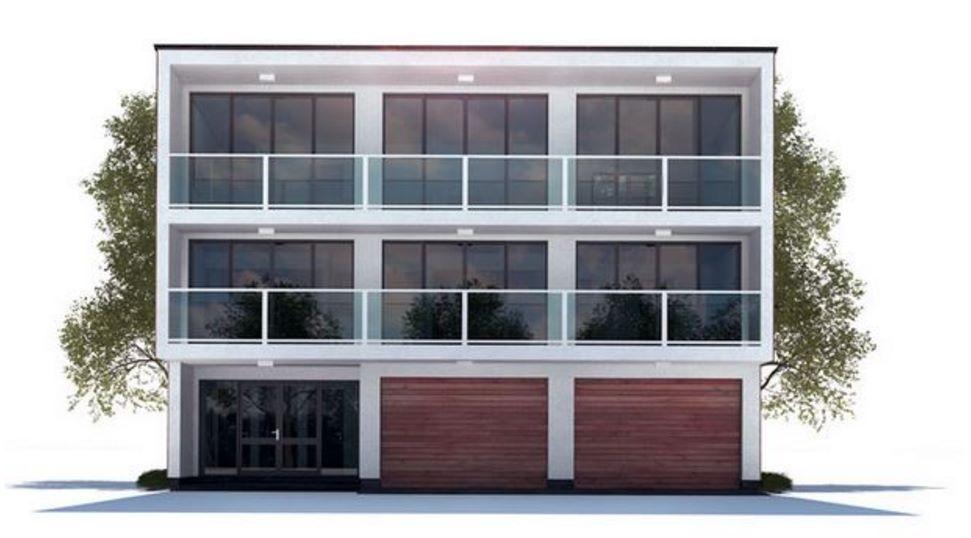 Fachadas con balcon de cristal