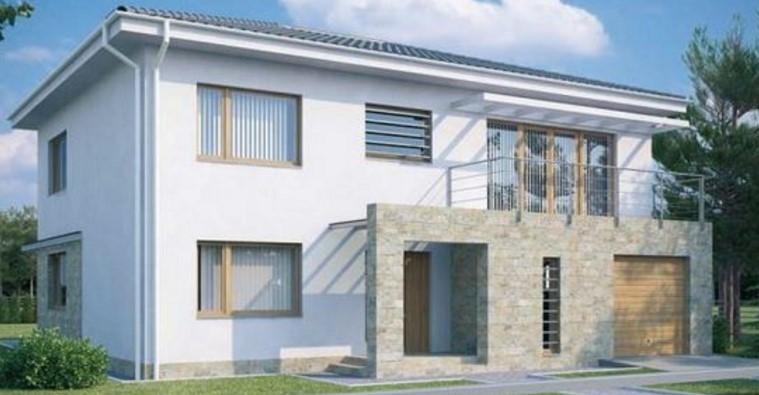 Fachadas con piedra natural y revoques - Fachadas de casas con piedra ...
