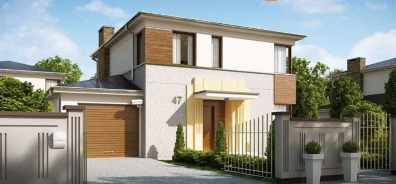 Fachada de casa moderna de 2 plantas for Pisos elegantes para casas