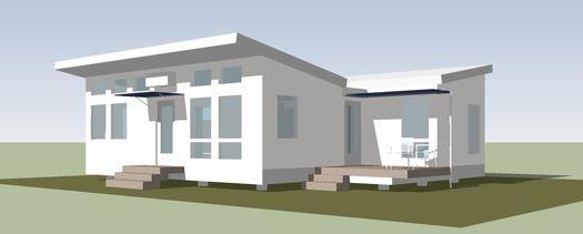 Fachadas de casas sencillas con techos inclinados