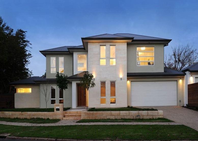 Fachadas pintadas de color gris for Fachadas casas color arena