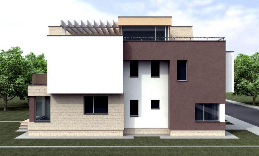 Fachadas de casas de tres pisos for Casa moderna por fuera