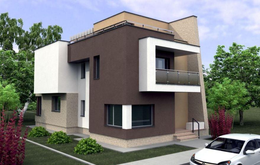 Fachadas y planos de casas de tres pisos modernas for Fachadas de casas de 3 pisos modernas