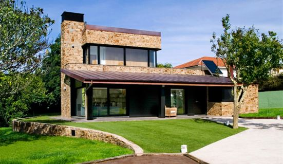 Fachadas de casas con chimeneas - Casas prefabricadas de piedra ...