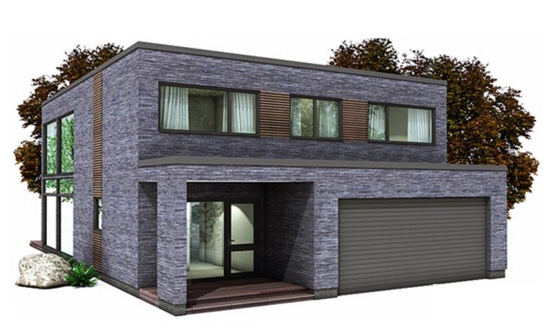 casas revestidas con piedra laja