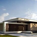 Fachadas de casas de una planta sencillas y bonitas