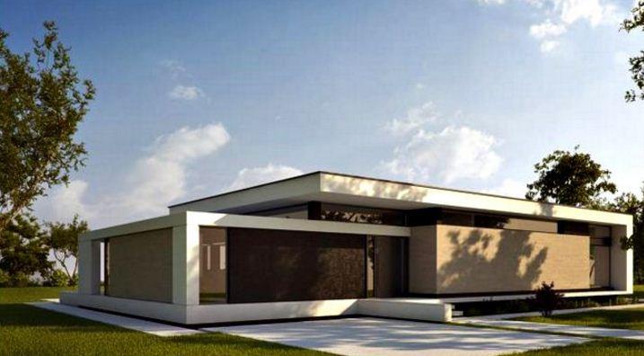 Fachadas de casas de una planta sencillas y bonitas for Modelos de casas de una sola planta