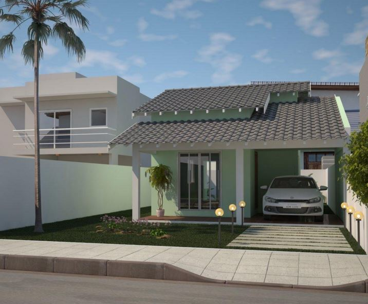 fachadas de casas simples de un solo piso