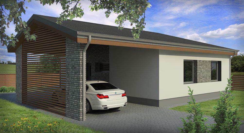 Fachadas pintadas de color gris for Casas modernas 80 metros cuadrados