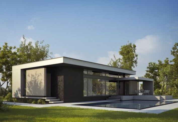 Fachadas de casas de una planta for Casas modernas de una planta minimalistas