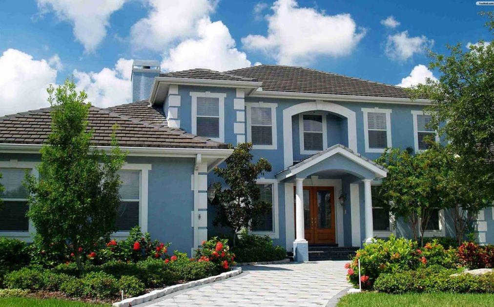 Fachadas en tonos azules - Colores azules para paredes ...