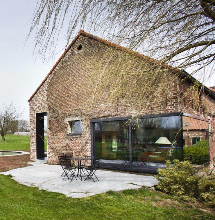 Casas de campo hechas con ladrillos