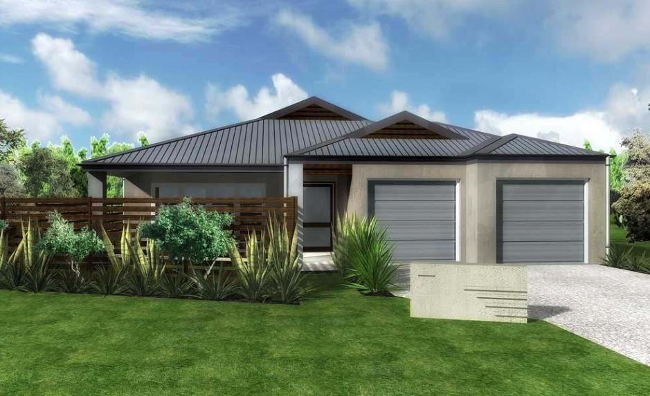Fachada de casa con cemento alisado
