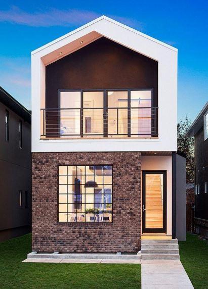Planos de casas estrechas planos de casa de metros de for Casas estrechas