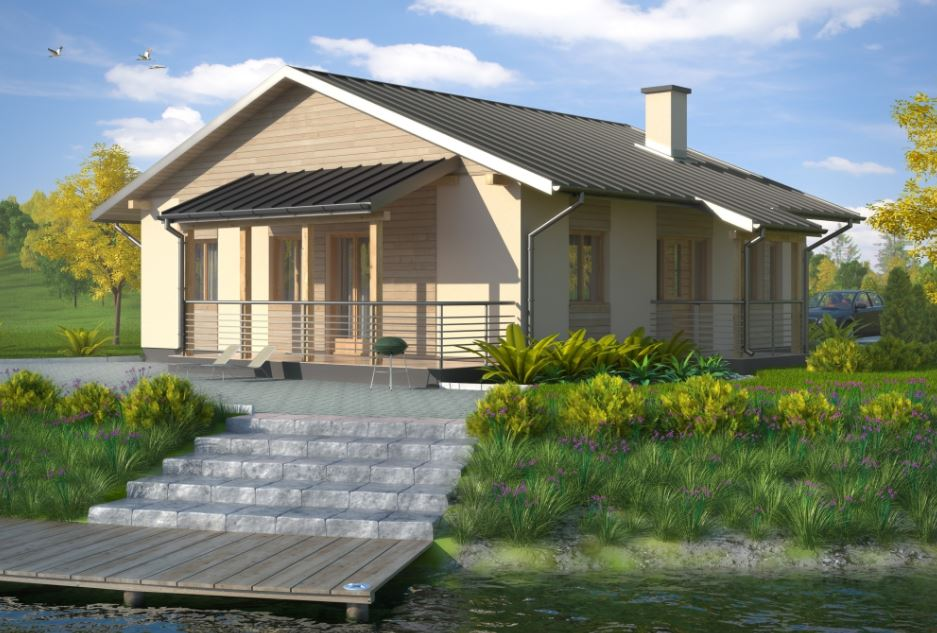 casas con techo de chapa a dos aguas