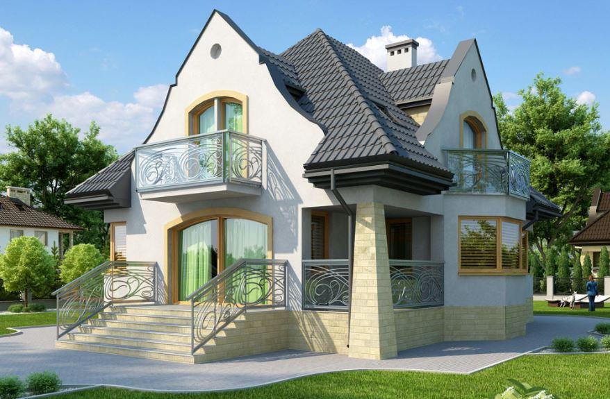 Fachadas con hierro forjado for Fachadas de casas segundo piso