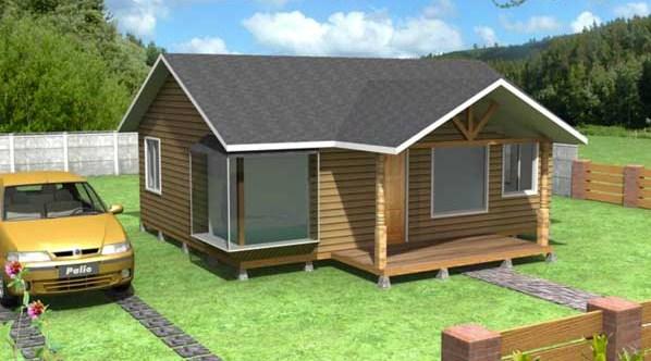 Fachadas con techo chapa y dos aguas