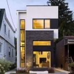 Fachadas de casas angostas modernas