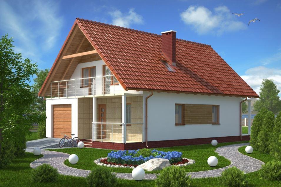Fachadas de casas de dos pisos sencillas y bonitas