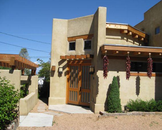 Fachadas de casas estilo Santa Fe