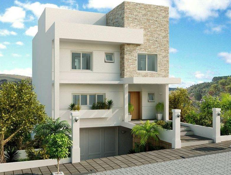 Fachadas de casas modernas con garage en el subsuelo