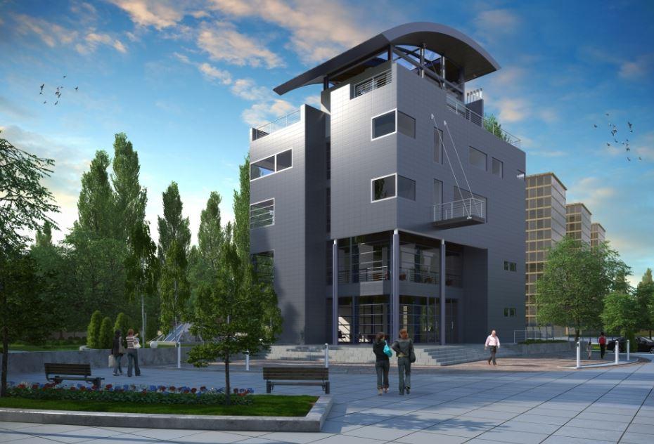 fachadas de edificios de 4 pisos modernos