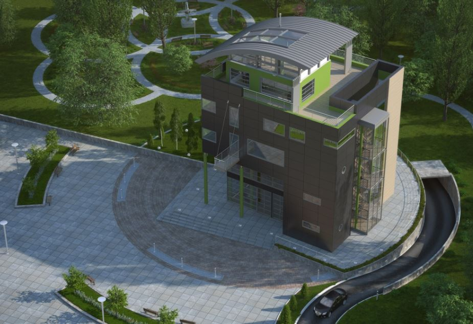 Fachadas de edificios de 4 pisos