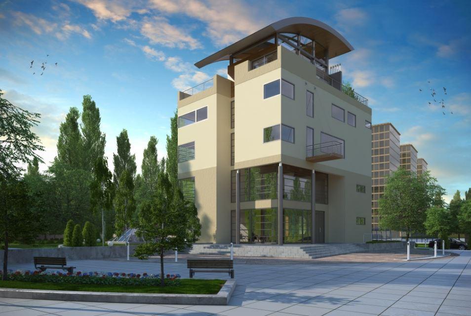 Fachadas de edificios de 4 pisos modernos for Fachadas de edificios modernos