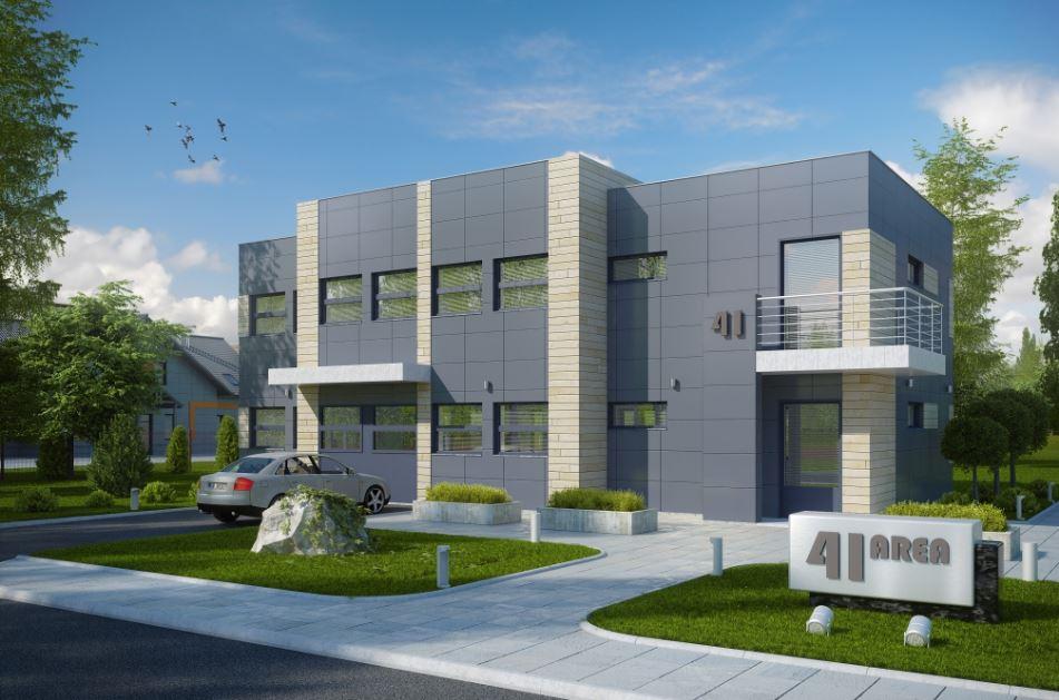 Fachadas de edificios de oficinas administrativas for Plantas de oficinas modernas