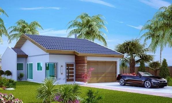 Fachadas modernas de casas peque as for Modelos de fachadas modernas para casas