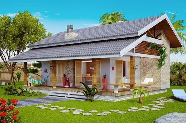 Fachadas modernas de casas pequeñas con jardin