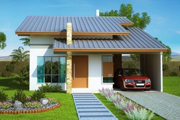 Fachadas modernas de casas peque as for Fachadas de piedra para casas pequenas