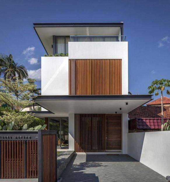Fachadas para casas angostas