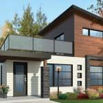 Fachadas para casas de 6 m de frente