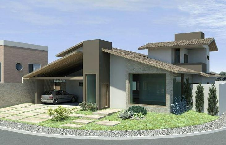 Imagenes de fachadas de casas modernas for Fachadas modernas para casas pequenas de una planta
