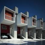 Fachadas de edificios de oficinas administrativas for Fachadas de departamentos pequenos