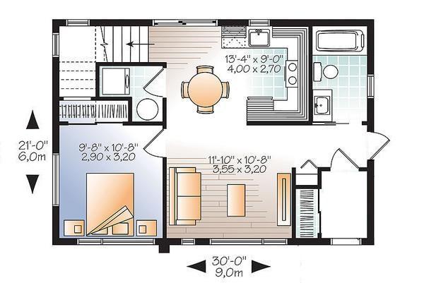 plano de casa de 6m de frente