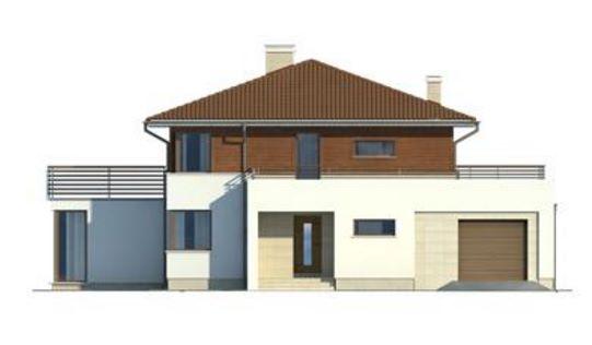 Casa clásica con cortes