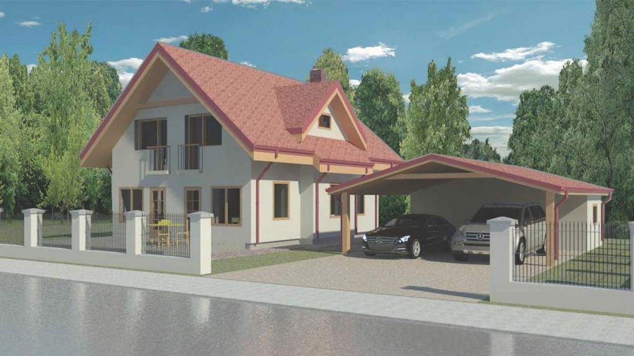 Casa clásica con tinglado para autos