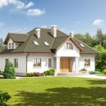 Casa de campo con doble entrada