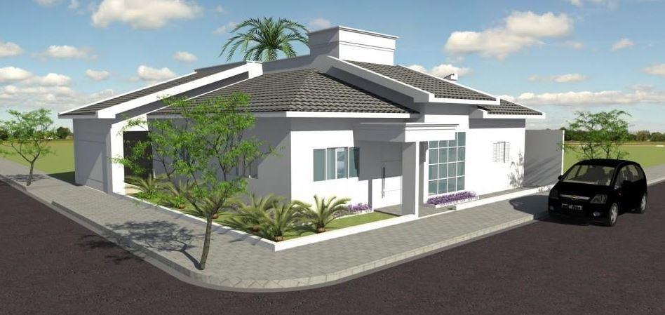 Diseños de casas en esquina modernas
