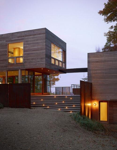 Fachadas de casas modernas con escalera - Escaleras de casas ...