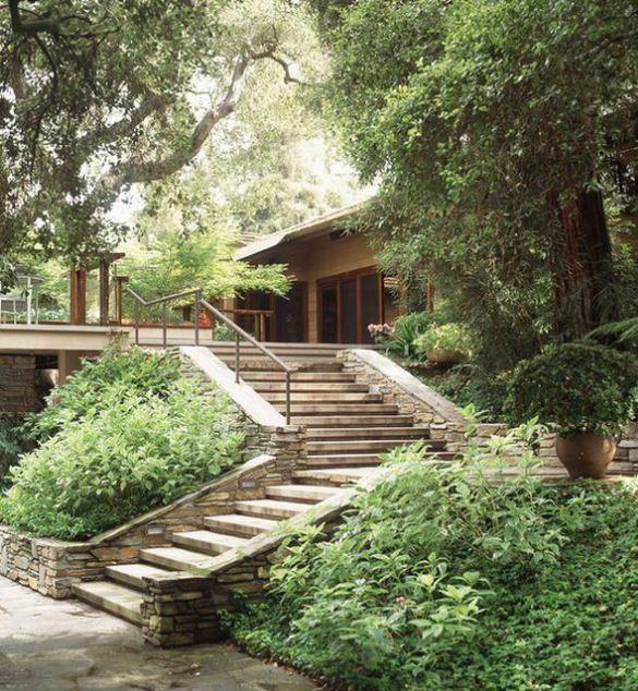 Fachadas de casas modernas con escalera - Escaleras para exterior ...