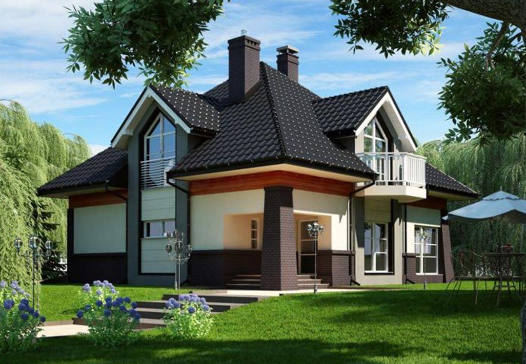 Fachada de casa de 250 metros cuadrados