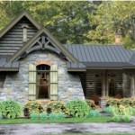 Fachada de casa de piedra con contrafrente