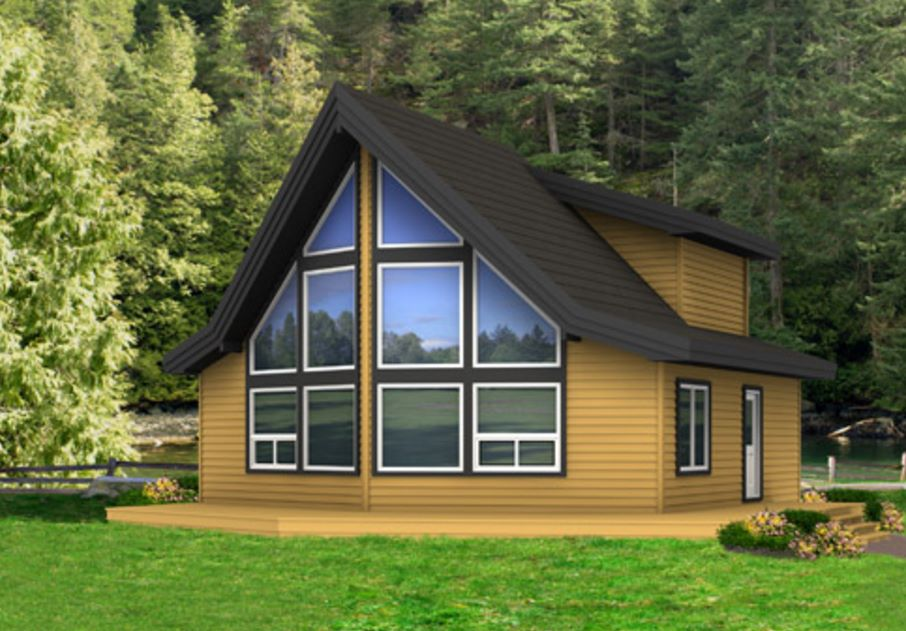 Fachadas de casas con techo a dos aguas for Fachadas para casas pequenas de dos pisos