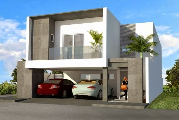 Fachadas de casas con cochera for Cocheras minimalistas