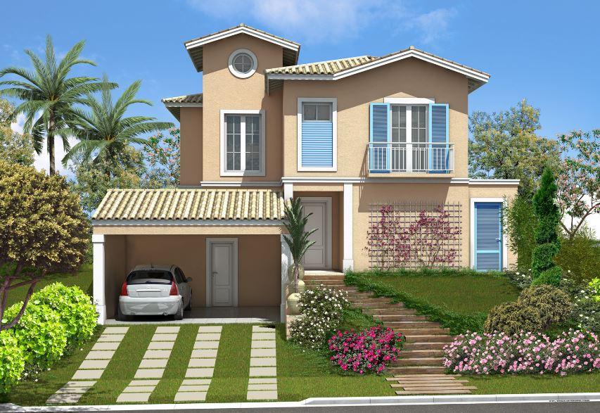 Fachadas de casas con cocheras dobles al frente