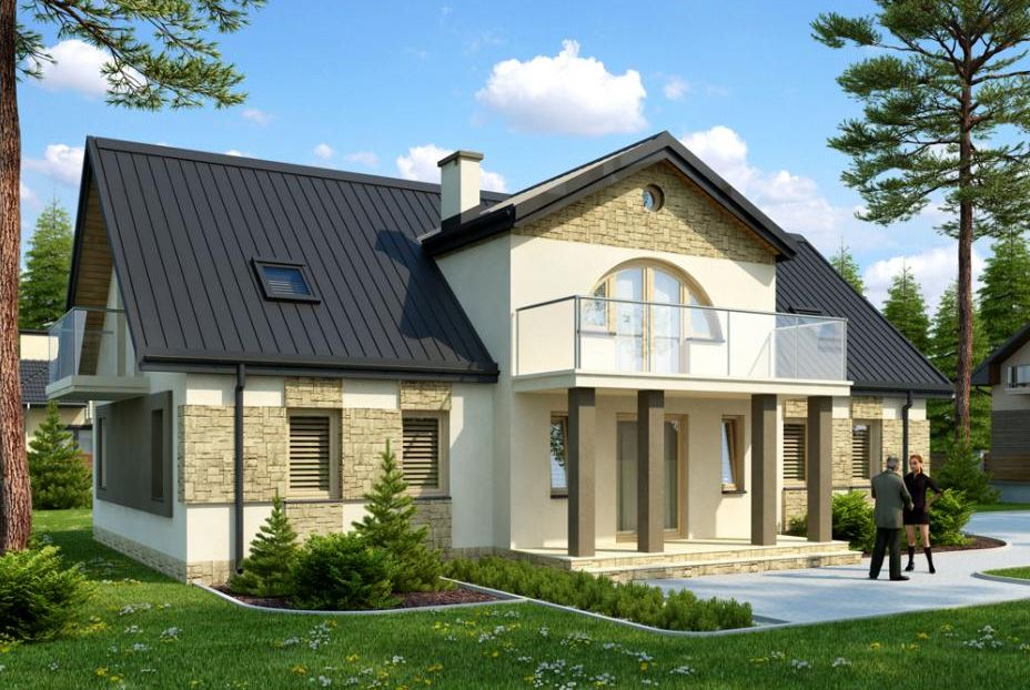 Fachadas de casas con porticos