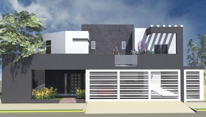 Fachadas de casas con rejas horizontales blancas